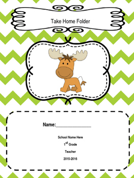 Woodland Animal Chevron Editable Folder Covers