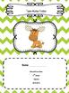 Woodland Animal Chevron Editable Folder Covers
