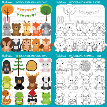 Woodland Animal Clip Art, Baby Forest Animals