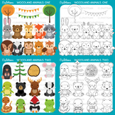 Woodland Animal Clip Art Bundle