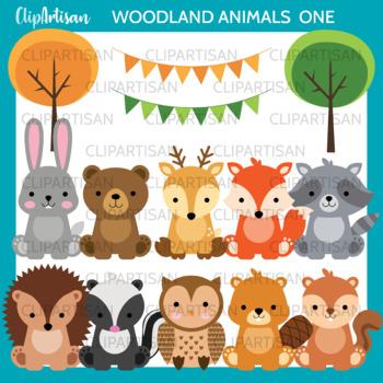 Woodland Animal Clip Art, Baby Forest Animals