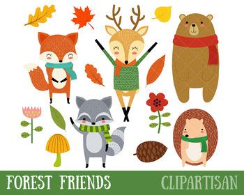 Woodland Animal Clip Art, Forest School Printable