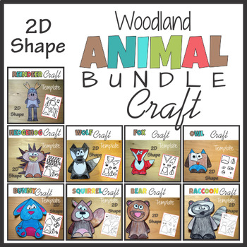 Woodland Animal Craft BUNDLE - Template Cut and Paste