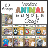 2D Shape Animal Craft BUNDLE - Template Cut and Paste