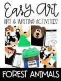 Woodland Animal Easy Art and Writing Activities