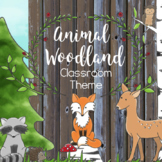 Woodland Animal Classroom Decor Editable