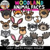 Woodland Animal Faces Clipart  {Woodland Animal Clipart}