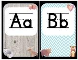 Woodland Animal Farm Shabby Chic Alphabet Letters Upper &