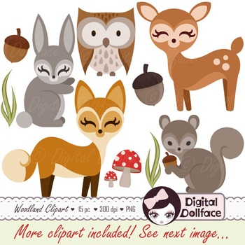 Woodland Animal / Forest Friends Clipart Set