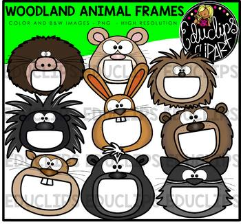 Woodland Animal Frames Clip Art Bundle {Educlips Clipart}