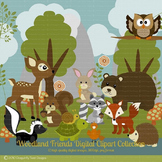 Woodland Animal Friends Series 1 Digital clip art Clipart