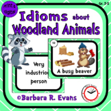 IDIOM TASK CARDS Woodland Animal Idioms Idioms Activity Literacy Center Games