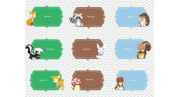 Woodland Animal Labels