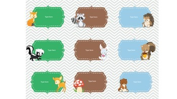Woodland Animal Labels