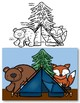 Woodland Animal Math Fact Fluency Addition CRAFT