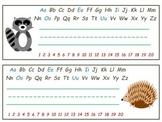 Woodland Animal Name Plates