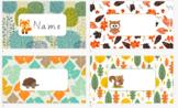 Woodland Animal Name Tags