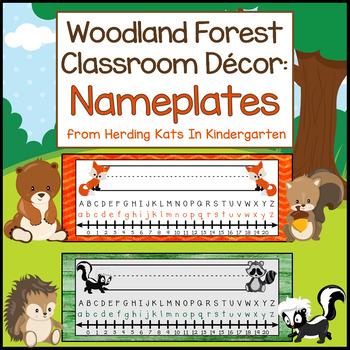 Woodland Animal Decor: Nameplates