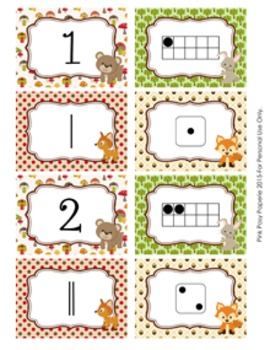 Woodland Animal Number Match Activity