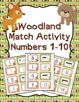 Woodland Animal Number Match Activity