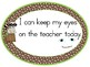"""Woodland Animal Oval Rules Posters with """"I can"""" Statements"""