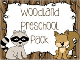 Woodland Animal Preschool Pack