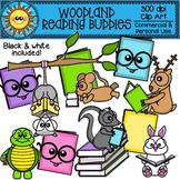 Woodland Animal Reading Buddies Clip Art