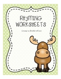 Woodland Animal Rhyming Worksheets FREE SAMPLE