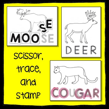 Woodland Animal Scissor, Trace and Stamp - An Animal Literacy Center