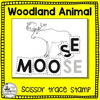 Woodland Animal Scissor, Trace and Stamp - An Animal Liter