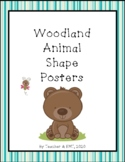 Woodland Animal Shapes Posters