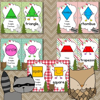 Woodland Animal Shapes and Colors