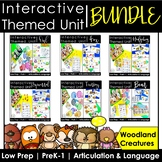 Interactive Woodland Animal-Themed Speech Therapy Unit