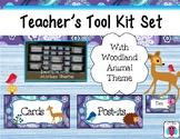 Woodland Animal Teacher's Tool Box Labels