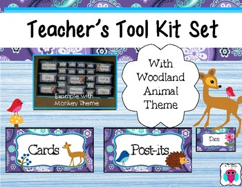 Woodland Animal Teacher's Tool Box Labels