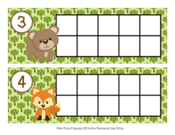 Woodland Animal Ten Frame Cards