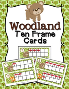 Woodland Animal Ten Frame Cards