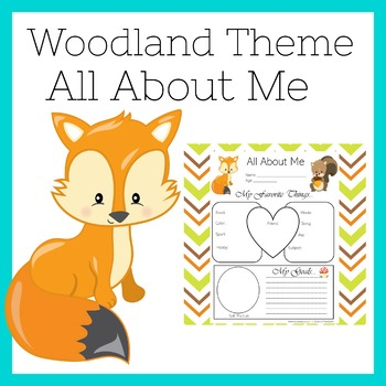 Woodland Animals Activity    Woodland Animals All About Me