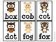 {Woodland Animal Theme} CVC Word Cards