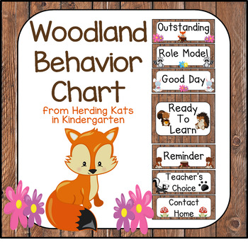 Woodland Animal Themed Behavior Clip Chart