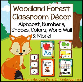 Woodland Animals Classroom Decor Posters