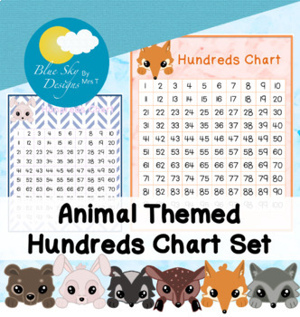 Woodland Animal Themed Hundreds Chart Set