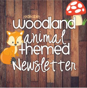 Woodland Animal Themed Newsletter