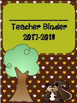 Woodland Animal Themed Teacher Binder