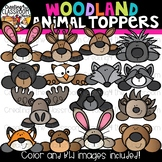 Woodland Animal Toppers Clipart  {Woodland Animal Clipart}