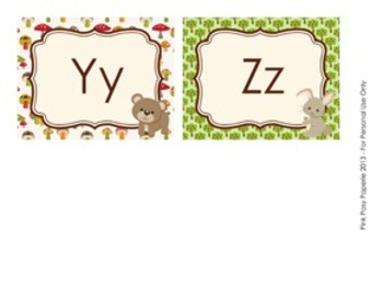Woodland Forest Animal Word Wall Headers