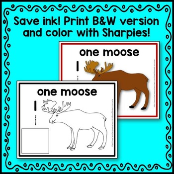 Woodland Animal Count and Write Mats