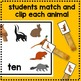 Woodland Animal Match and Clip Math Center