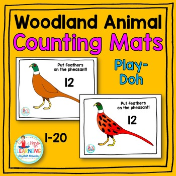 Woodland Animal Play-Doh Counting Mats
