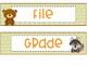 Woodland Animals 3 Drawer Organizer Labels